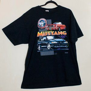Ford Mustang Vintage 60s 90s Hot Rod T-Shirt black